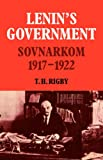 img - for Lenin's Government: Sovnarkom 1917-1922 (Cambridge Russian, Soviet and Post-Soviet Studies) book / textbook / text book