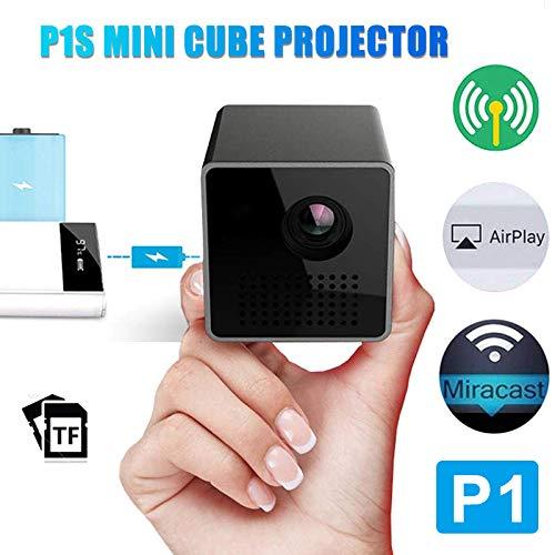 Glomixs 2019 Update P1S Mini Cube - Proyector (1080p, DLP HD, para ...