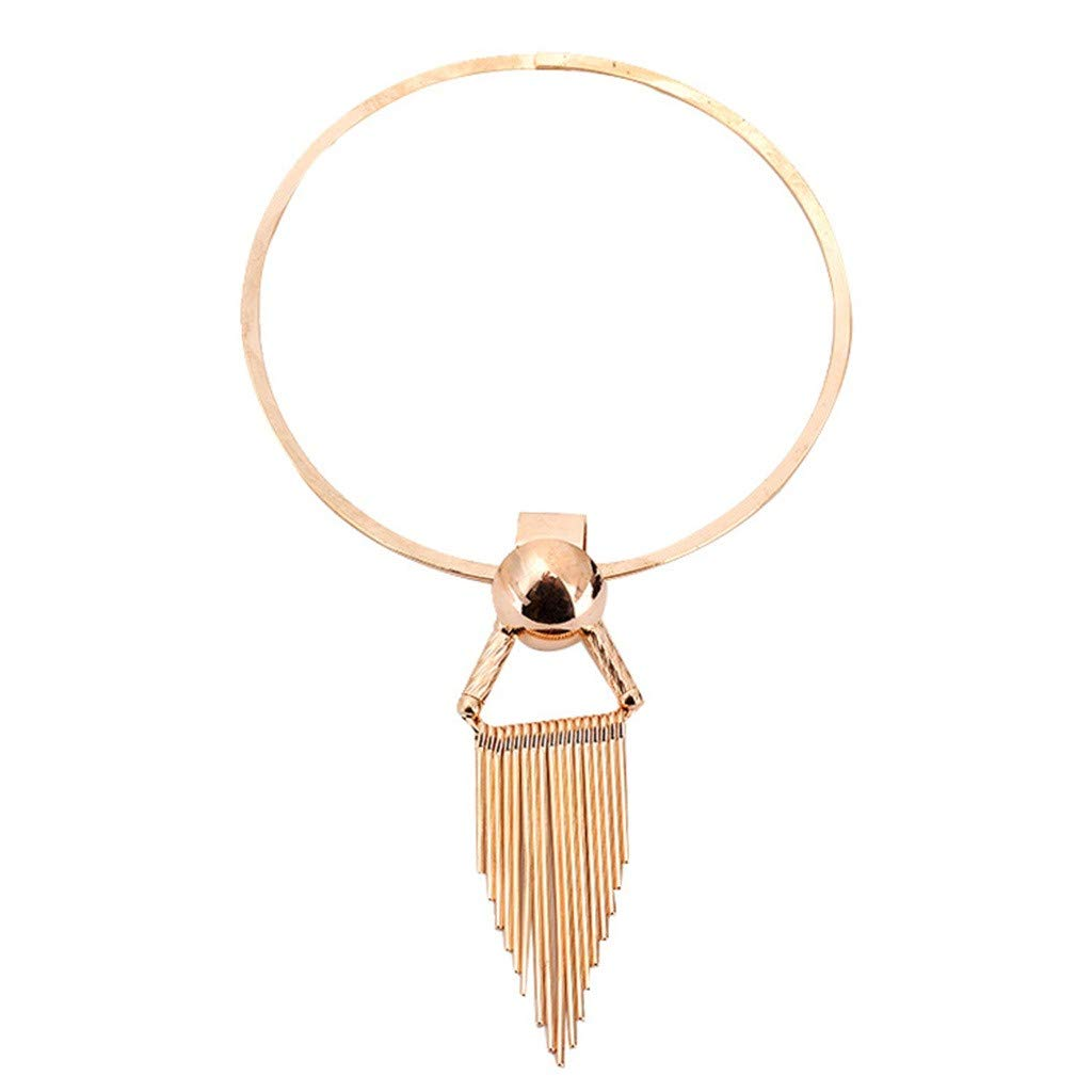 Oillian Women Simple Popular Women Resin Sweater Chain Tassel Necklace Minimalist Jewelry Necklace Gift for Teens Friend (GD)
