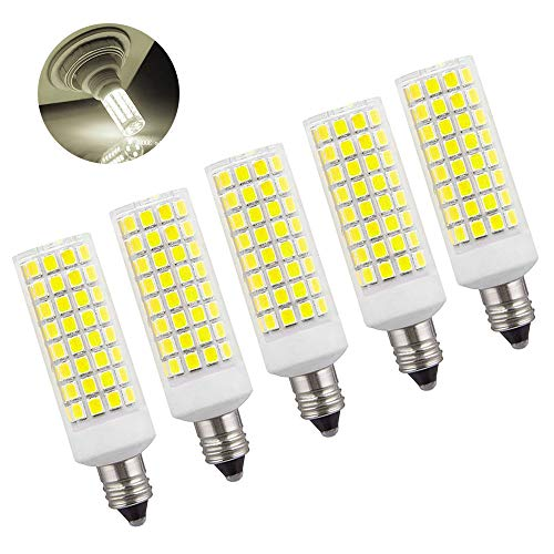 - Kinglight 8W JD E11 LED Bulbs, 150W 100W Halogen Equivalent, Mini Candelabra LED Base, 1000LM Dimmable 6000K Daylight AC110V 120V, Pack of 5