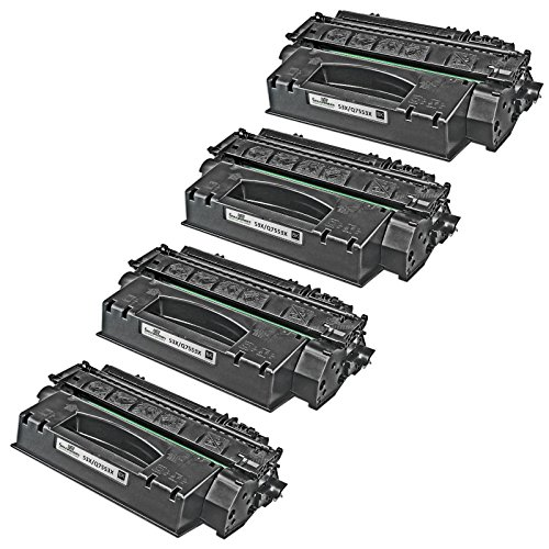 Speedy Inks - 4pk Remanufactured Replacement for HP 53X Q7553X High-Yield Laser Toner Cartridge Black for use in HP LaserJet P2015, HP LaserJet P2015d, HP LaserJet P2015dn, HP LaserJet P2015x (Laserjet P2015dn Hp Printer)