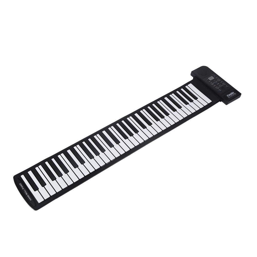 Silicona Suave Superior 61 Teclas 61 Teclas Piano est/ándar Piano de Teclado de m/úsica Digital electr/ónica port/átil Flexible Hakeeta Piano de Teclado Enrollable Plegable C3 ~ C8