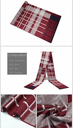 Lictory Winter Warm Scarf Men Wool Tassel Double Fine Plaid Scarves Men Winter Fashion Cashmere Scarf For Men Shawls And Wraps 0 by Lictory (Image #3)