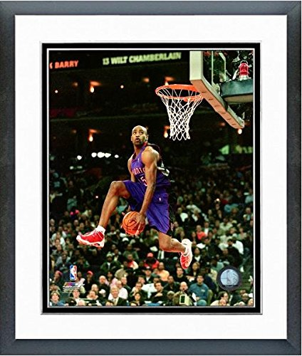 Basketball Vince Carter (Vince Carter Toronto Raptors NBA Slam Dunk Action Photo (Size: 12.5