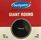 BEST R125-5 Inch Giant Round Tube Repair Patches - 10 Pack