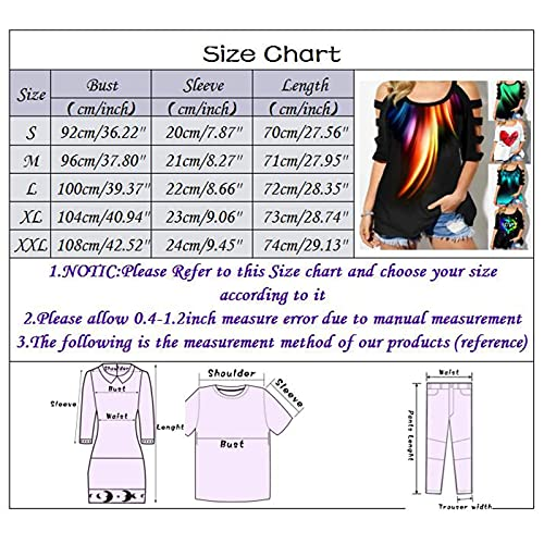 Casual Loose Tops,Women Plus Size Cold Shoulder T Shirt Short Sleeve Split Womens Tops(Black_13,S)