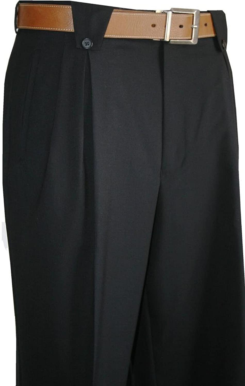 DressinGreatGatsbyClothesforMen Wide Leg Mens Pants Black $99.00 AT vintagedancer.com
