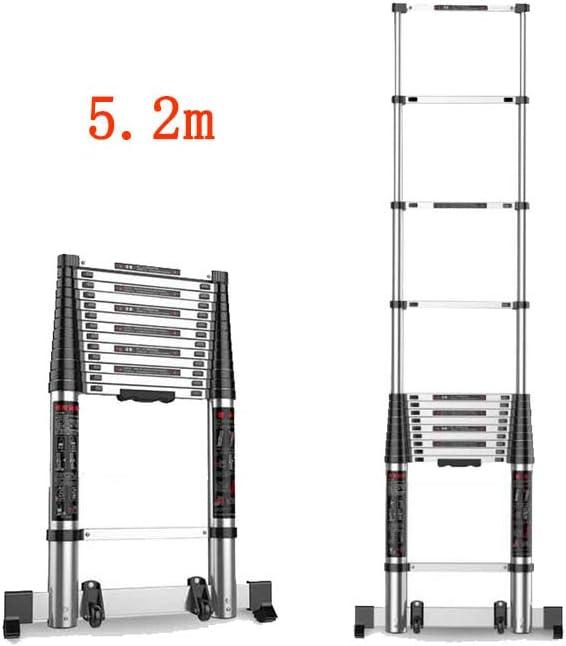 ZPWSNH Escalera Plegable Fórmula de contracción Familiar Escalera Recta Ingeniería portátil Loft Provincia Espacio Taburete (Size : 5.6m): Amazon.es: Hogar
