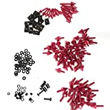 XKMT GROUP Motorcycle Universal Red Spike Fairing Bolt kit Screws Sportbike Pack For Yamaha YZF R1 R6 R6S