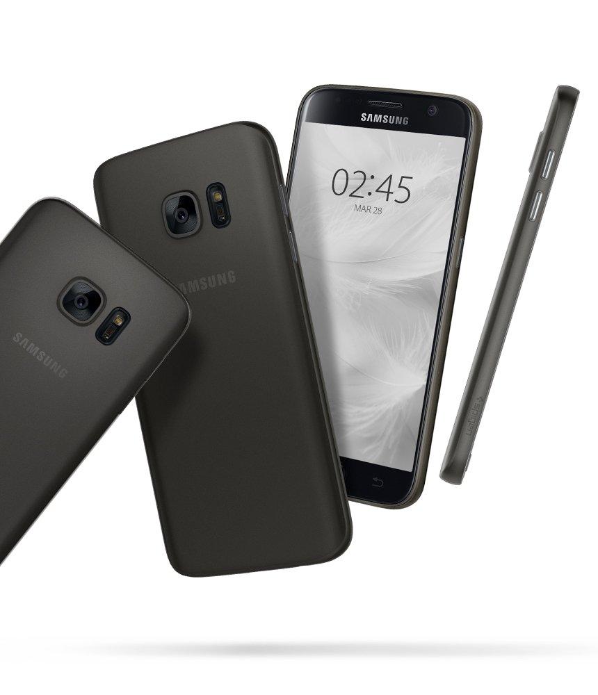 cheaper 0f00a 999a7 Galaxy S7 Case, Spigen Air Skin - Semi-Transparent Lightweight Material for  Samsung Galaxy S7 (2016) - Black