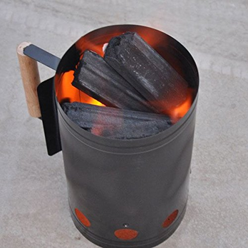 Shop24Hrs Portable Outdoor Camping Picnic Wood Burning Stove Firewood Charcoal BBQ Barbecue Barrel (How To Crackle Paint)