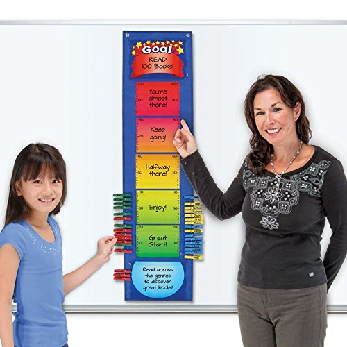Goal Chart Thermometer (Goal Thermometer EZ-Tuck Clip 'N' Track Pocket Chart)