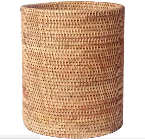(Metwoo Handmade Rattan Woven Wastebaskets, Multi-Functional Storage Basket 20x20cm)