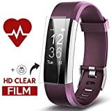 Fitness Tracker - Kinbom Heart Rate Monitor Smart Watch With Sleep Monitor - Step Counter - GPS - Message Notification - Bluetooth 4.0 - IP67 Waterproof Activity Tracker for Android&iOS Smart Phone (Purple)