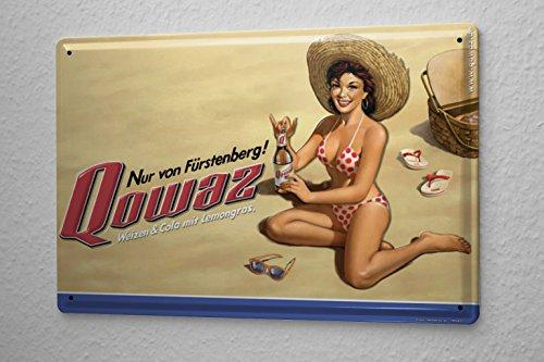 "Price comparison product image Beer Tin Sign Retro Deco Fürstenberg Retro Advertising Qowaz beach bikini girl Fun Party Room Wall Vintage Decoration 8X12"""