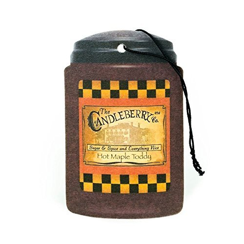 Candleberry Candle Co. Scented Car Air Freshener - Hot Maple Toddy
