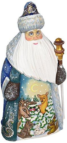 G. Debrekht Forest Gathering Hand-Painted Wood Carving Debrekht Santa