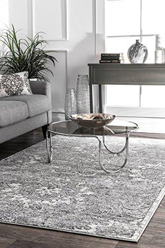 nuLOOM Chastain Vintage Floral Area Rug, 5 x 8 , Dark Grey