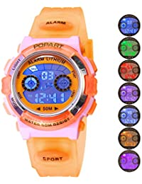Kid Watch for Child Boy Girl LED Multi Function Sport Outdoor Digital Dress Waterproof Alarm Orange