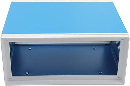 Zunbo - Caja de enlace electrónica, caja de proyecto rectangular universal de metal, color azul, 170 x 130 x 80 mm: Amazon.es: Bricolaje y herramientas