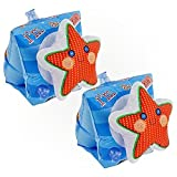 Star Shape Swimwings, Inflatable Swimming Arm Band Floats for Pool Beach for Kids - 3 to 6 Years of Age - 9' X 6'(23cm X 15cm)