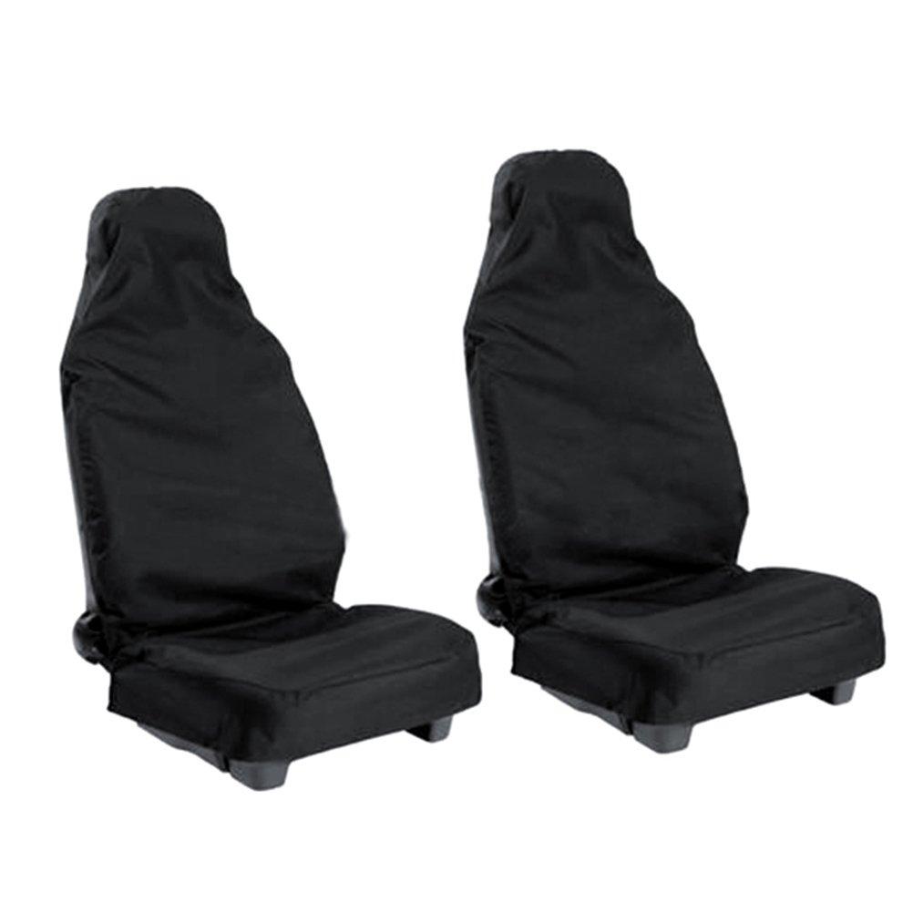 WINOMO 2pcs auto universale veicolo Van impermeabile Nylon Seat Covers protezioni (nero)