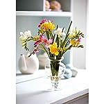 MARJON-FlowersArtificial-Pink-Yellow-White-Freesia-Flower-Arrangement-Vase-Centrepiece-Plant-Realistic-Lifelike