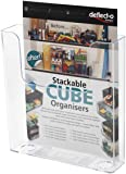 Deflecto 76401 Single A4 Portrait Flat Back Literature Holder - Clear