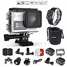 SJCAM SJ6 Legend (+REMOTE WATCH and VALUE PACK) 4K 1080P WiFi Touchscreen Dual LCD Gyro Anti-Shake Adjustable Angle 170° Max CMOS Waterproof Action Camera (Silver)