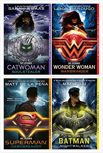 The DC Icons Series Books Set (4 Books) - Wonder Woman, Catwoman, Batman, Superman Paperback – 2020 by Marie Lu (Author), Leigh Bardugo (Author), Sarah J. Maas (Author)
