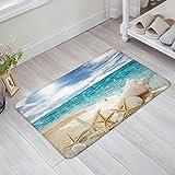 Infinidesign Beautiful Beach Seascape 23.6 x 15.7 Inch Decorative Floor Mat Indoor/Front Door/Bathroom Non Slip Rug