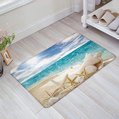 Infinidesign Beautiful Beach Seascape 32 x 20 Inch Decorative Floor Mat Indoor/Front Door/Bathroom Non Slip Rug