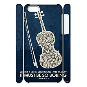 Andre-case 3D Sherlock IPhone 5C case covers Sherlock Inspired Quote Poster Unique for Guys, Iphone pnt785HFacN 5c case covers for Girls,