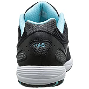 RYKA Women's Dash 2 Walking Shoe, Black/Metallic Iron Grey/Winter Blue/White, 9 W US