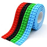 Building Blocks Tape Compatible lego Collection Construction Self-Adhesive tape 4 Rolls Red Blue Black Green