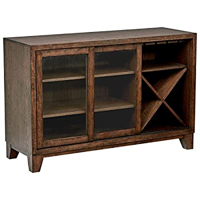 """Amazon Brand – Stone & Beam Dunbar Modern Wood Buffet, 55""""W, Oak - This handsome modern buffet provides function with style - and is perfect for storing wine, linens, and glassware.  Simple, clean lines and beautiful quarter-sawn oak veneer finish make this piece look at home in rustic or modern settings. 55""""W x 19""""D x 36""""H Hardwood top - sideboards-buffets, kitchen-dining-room-furniture, kitchen-dining-room - 51hKNp3rJeL. SS400  -"""
