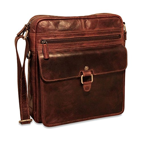 Jack Georges Voyager Large Cross Body (Brown)