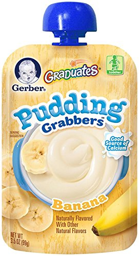 Gerber Graduates Grabbers - Pudding Banana - 3.5 oz - 6 pk