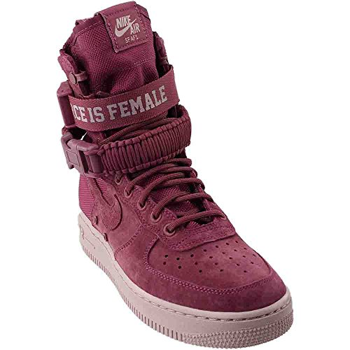 Nike W SF AF1 FIF Womens Fashion-Sneakers bstn_AJ1700-600_9.5 - Vintage Wine/Vintage Wine-Particle Rose