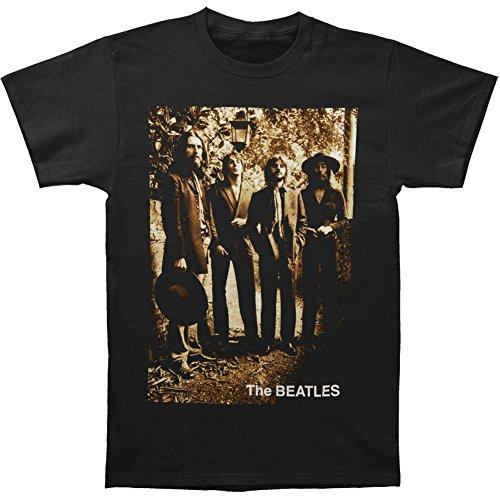 Bravado Men's The Beatles Sepia 1969 T-Shirt, Black, (Beatles Black T-shirt)