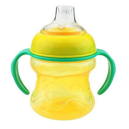 CRAZYON Vasos para bebés, pajitas de silicona para botella ...
