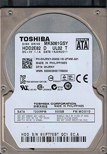 Toshiba MK2002TSKB P//N HDD3B03CZK51 F//W MT2A 2TB