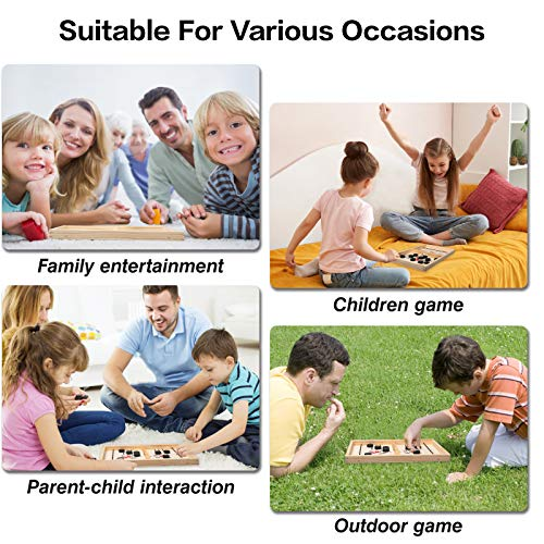Fast Sling Puck Game, Desktop Battle, Winner Board Game, Foosball Slingshot Toy, Hockey Table Game for Kids and Adults (Regular)