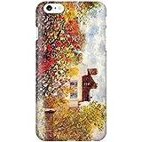 スマホケース スマートフォンケース iPhone6 6s 【側面印刷ハードケース】【アイフォン6 6s】【モネ ダリアの咲く庭】【名画mg11】つや消し