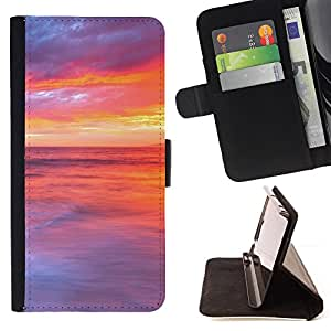 DEVIL CASE - FOR Samsung Galaxy A3 - Sunset Beautiful Nature 48 - Style PU Leather Case Wallet Flip Stand Flap Closure Cover