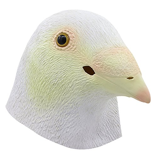 molezu Pigeon Bird Head Mask, Halloween Costumes Party Latex Animal Head Mask -