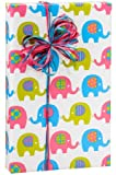 Baby Elephant March Girl or Boy Gift Wrap Wrapping Paper 16 Foot Roll: more info