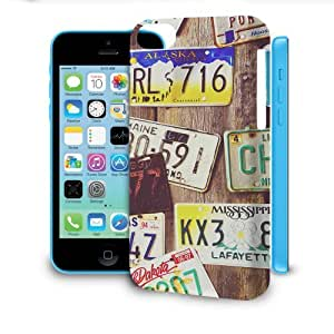 Phone Case For Apple iPhone 5C - License Plates Glossy Wrap-Around