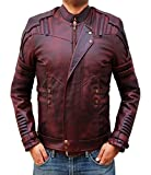 Star Lord Guardians Of The Galaxy 2 Leather Bomber Infinity War Jacket - XL