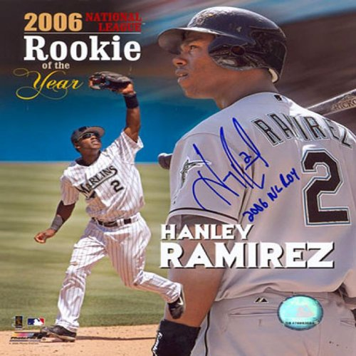 Hanley Ramirez ROY 2006 Autographed Signed Florida Marlins Baseball 8x10 Photo